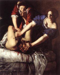 Gentileschi Artemisia Judith décapitant Holopherne