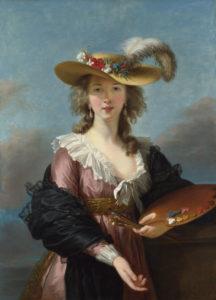 Elisabeth Vigée Lebrun Auto-portrait au chapeau de paille